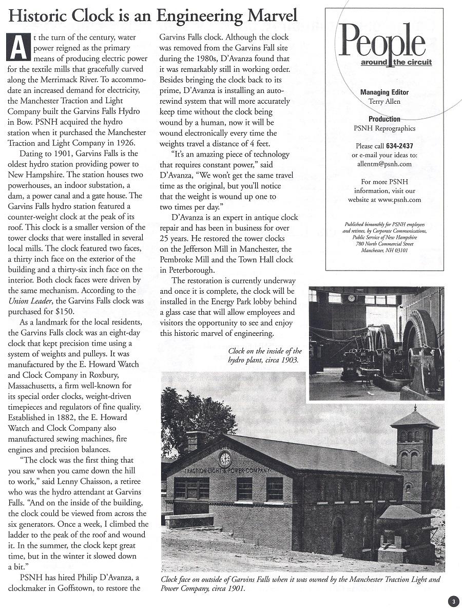 PSNH Newsletter